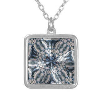 French Celtic Kaleidoscope Silver Plated Necklace