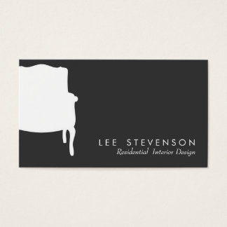 French Chair Interior Designer Business Card