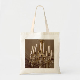 French Chandelier, Rococo In Paris Budget Tote Bag