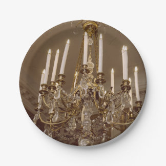 French Chandelier, Rococo In Paris Paper Plate
