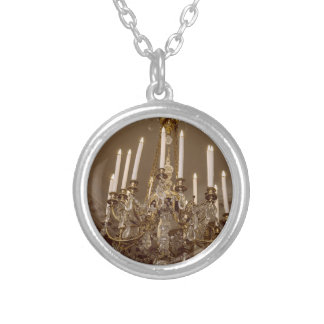 French Chandelier, Rococo In Paris Round Pendant Necklace