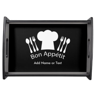 French Chef Hat Gourmet Cook Service Tray