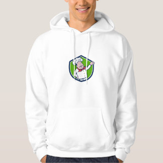 French Chef Welcome Greeting Crest Cartoon Hoodie