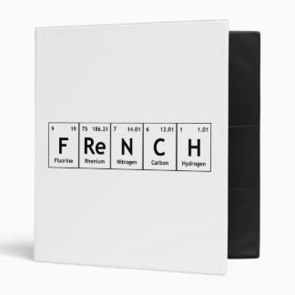 FReNCH Chemistry Periodic Table Words Elements Vinyl Binder