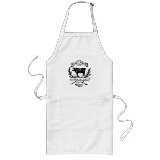 French Chic Vintage Cow Butcher Ad Long Apron
