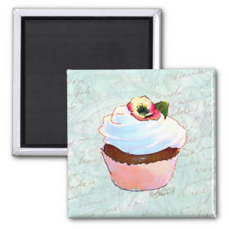 French Chocolate Cupcake Victorian Style Fridge Magnet