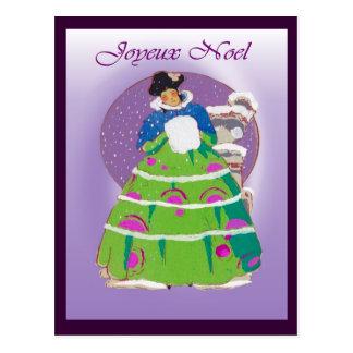 French Christmas card 1904, Joyeux Noel Postcard