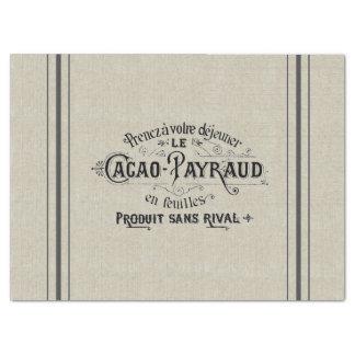 French Cocoa Grain Sack Tissue Paper