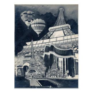French Collage V1 Negative Postcard