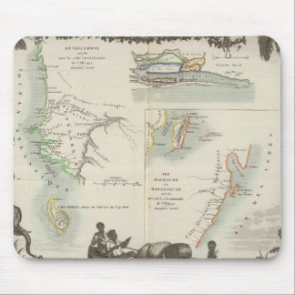 French Colonies in Africa Mouse Pad