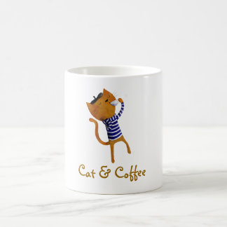 French Cool Cat Classic White Coffee Mug