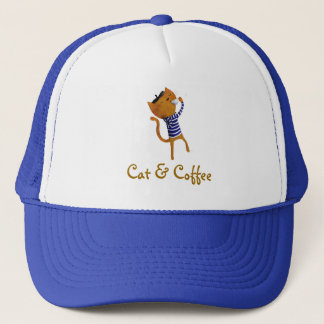 French Cool Cat Trucker Hat