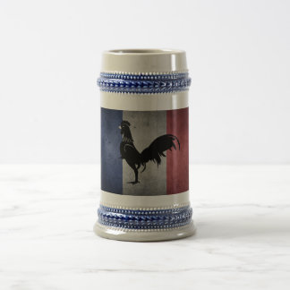 French coq beer stein