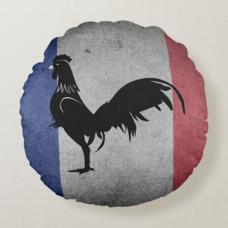 French coq round pillow