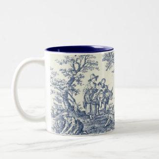 French Country Blue Pattern Mug