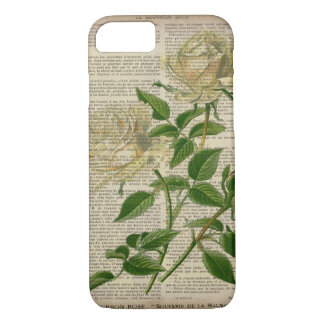 french country botanical art victorian white rose iPhone 8/7 case