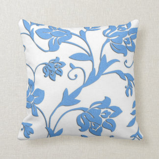 French Country Cornflower Blue Pattern MoJo Pillow