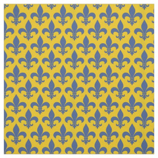 French Country fleur de lis Pattern Design Fabric