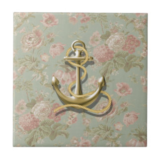french country floral girly nautical anchor tiles