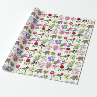 French Country Garden Floral Wrapping Paper