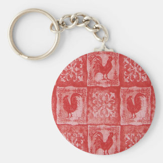 French Country Grannies Kitchen Tablecloth Keychain