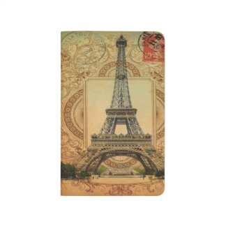 french country modern vintage paris eiffel tower journal
