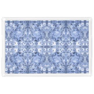 French Country Mosaic Du Vin Mandala 1 by Deprise Acrylic Tray