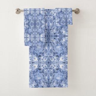 French Country Mosaic Du Vin Mandala 1 by Deprise Bath Towel Set
