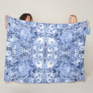 French Country Mosaic Du Vin Mandala 1 by Deprise Fleece Blanket