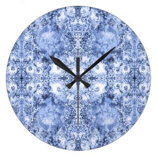 French Country Mosaic Du Vin Mandala 1 by Deprise Large Clock