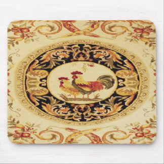 French Country Rooster & Hen Design Mouse Pad