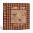 French Country Rooster Recipe Cookbook Binder