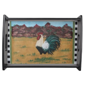 French Country Rooster Serving Tray