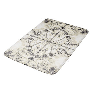 French Country Vintage Champagne Mosaic by Deprise Bath Mat