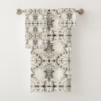 French Country Vintage Champagne Mosaic by Deprise Bath Towel Set