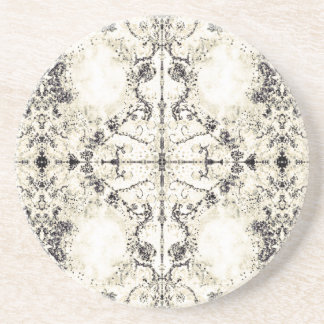 French Country Vintage Champagne Mosaic by Deprise Coaster