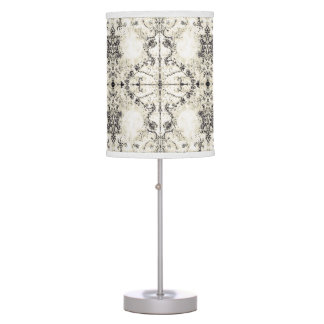 French Country Vintage Champagne Mosaic by Deprise Table Lamp
