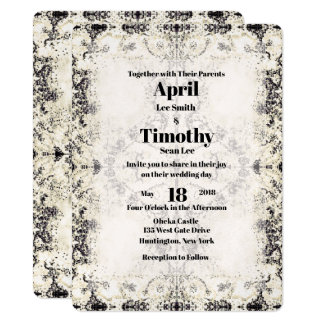 French Country Vintage Champagne Wedding Invite