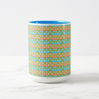 French Country-Vintage Delicate-Multi-Styles Two-Tone Coffee Mug