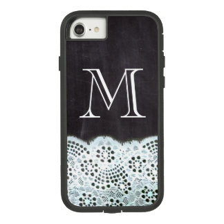 French country white lace chalkboard monogram Case-Mate tough extreme iPhone 8/7 case
