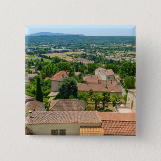 French Countryside in Provence Photograph 2 Inch Square Button