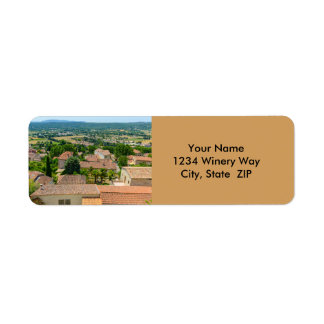 French Countryside in Provence Photograph Return Address Label