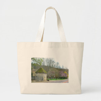 French Countryside in the spring purple flowers Large Tote Bag