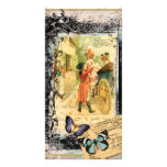 French Couple in Carriage 18th Century Photo Card