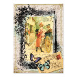 French Couple in Carriage Card Invitation