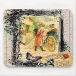 French Couple in Carriage Vintage Style Mousepad
