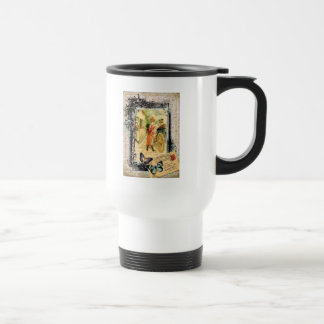 French Couple in Carriage Vintage Style Travel Mug