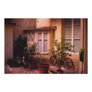French courtyard poster