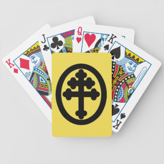 French Cross Bicycle Playing Cards