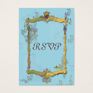 French Crown L'Arc de Triomphe RSVP Card